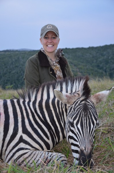 The author with her zebra. Image courtesy Michelle Whitney Bodenheimer.
