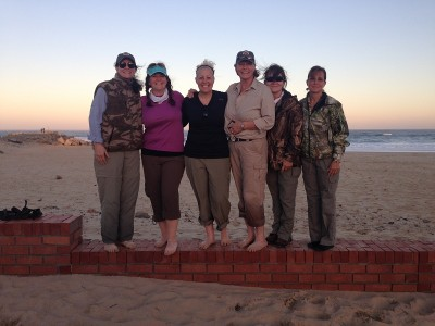 Andrea Fisher, Michelle Whitney Bodenheimer, Britney Starr, Cindy Grove, Julia Chamberlain, and Christina Nyczepir enjoy time on the beach. Image by Dwaine Starr.