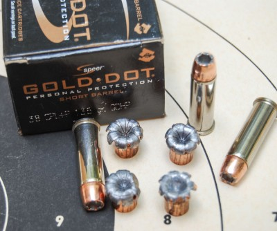 Speer Gold Dot Short Barrel is optimized to expand at lower velocities from compact guns.