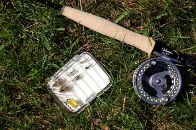 The author's preferred trout rig for Michigan is an 8.5-foot, 4-weight Cabela's RLS+ fly rod. It's perfect for tight streams.