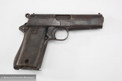 Is this Viet Cong copy of a 1911 really a 1911? Some of the controls are cosmetic only and it's a smooth bore! Image courtesy of the NRA National Firearms Museum.