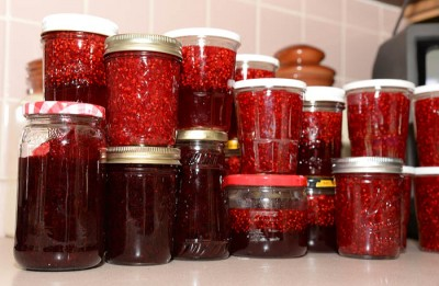 Raspberries taste great in jams and jellies, assuming you don't eat them all as you pick.