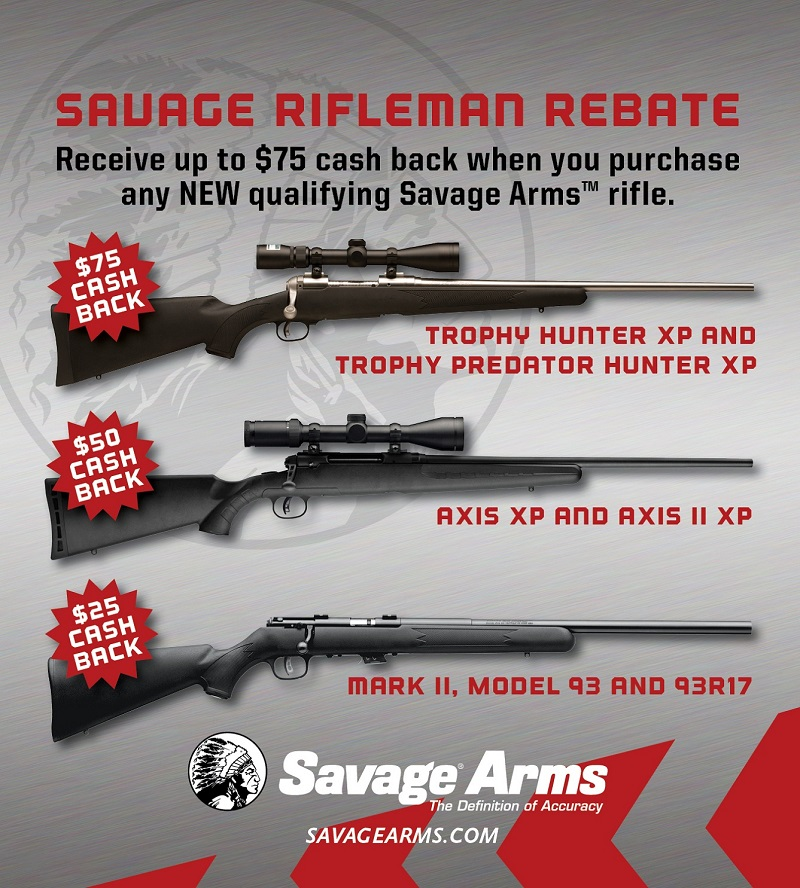 Savage Rifleman Rebate Promotion Is Going Strong