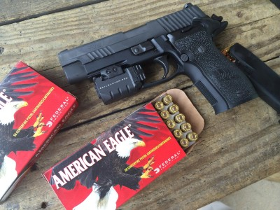I shot a lot of this American Eagle 9mm 147 grain ammo. It makes a great competition load and is perfect for silenced guns.