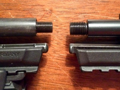 If you have an original model, be aware that the barrel threading is a different size. You'll need a different adapter if you want to add a silencer.