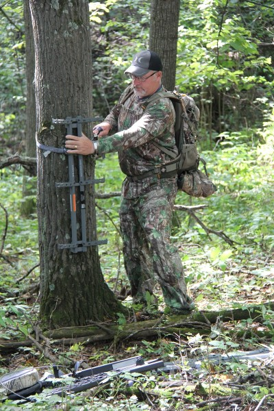 Treestand equipment that is easy to get into the woods and set up is critically important to the mobile hunter. Climbing sticks like these from Hawk Hunting are light and sturdy.