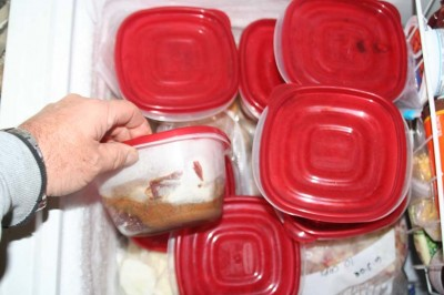 The entire contents of a Crock-Pot meal can be placed in a container and frozen. Drop the works into a Crock-Pot before heading out for the day's hunt; when you return from a cold day of hard hunting, there is a hot meal waiting for you.