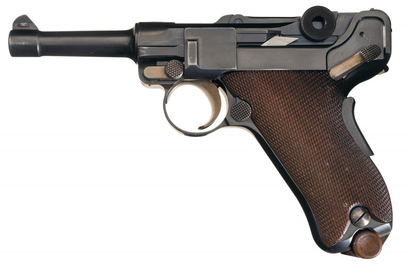 This pistol is only one of three prototype baby Lugers like it in existence.