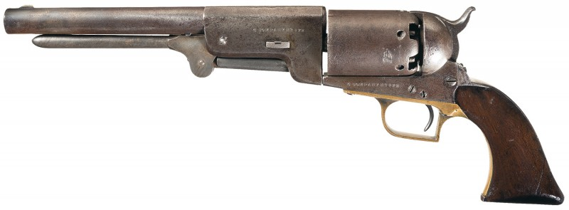 This military revolver served with distinction during the Mexican War.