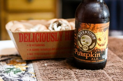 Be sure to keep a seasonal brew close at hand when you're cooking this recipe.