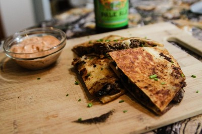 The arrival of fall means it's football season. Treat your tailgating teammates to this delicious venison quesadilla.