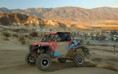 Team IMG Motorsports / ITP pilot Sara Price put her Polaris RZR on the first-ever WORCS SxS Powder Puff podium, earning a solid second-place finish at Glen Helen