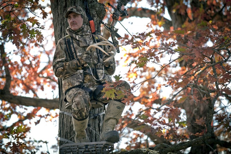 Hang-on stands are the most popular type of treestand because they allow you to ascend a tree quickly and quietly.