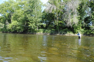 The Flint River is ideal for fly anglers: wide open and wadeable.