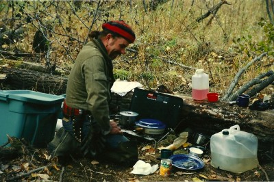 Dennis Dunn's guide for the second part of his 1997 hunt for Alaska-Yukon moose, Linus O'Brien. Image by Dennis Dunn.