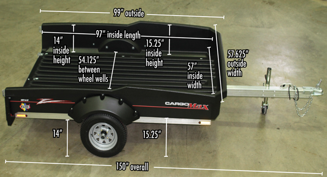 Load Max Trailers >> FLOE Cargo Max XRT 8-57 the Best Utility Trailer for Hunting, Fishing, and Yes…Work   OutdoorHub