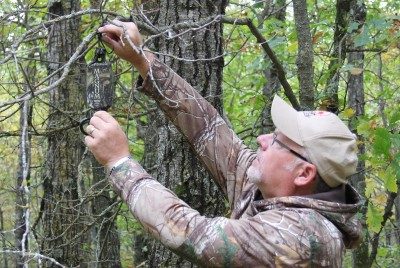 A scrape dripper that continually adds fresh lure to the scrape will really get the bucks' attention and increase the chances they will step into the scrape during the daylight. Image courtesy Bernie Barringer.