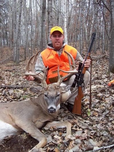 Josh Runksmeier took this great buck in an area with small properties ranging mostly  from five to 10 acres. He learned about the deer from a coworker.