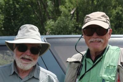 Dr. Gordon Cox (L) with John Bates (R)