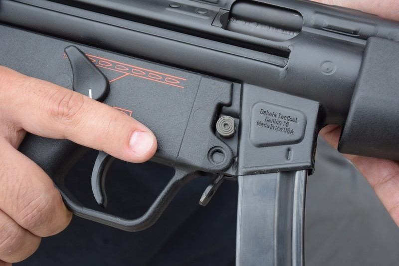 The Dakota Tactical rollmark on the right side of a D54P in 9x19mm.