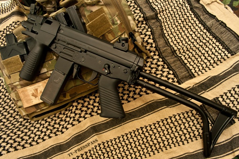 A FAMAE SAF in 9x19mm.