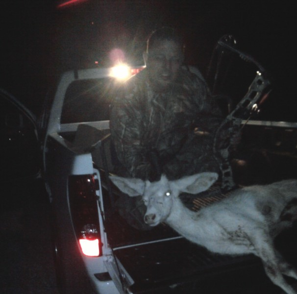 Jeff Foster said he practically tripped over this deer on a 2011 hunting trip.
