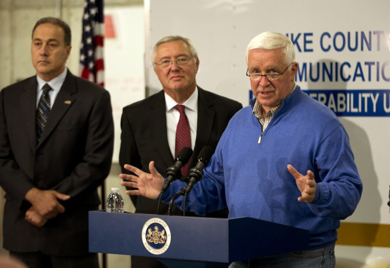 Governor Tom Corbett and law enforcement officials held a press conference on Friday announcing Frein's capture and the end of the manhunt.