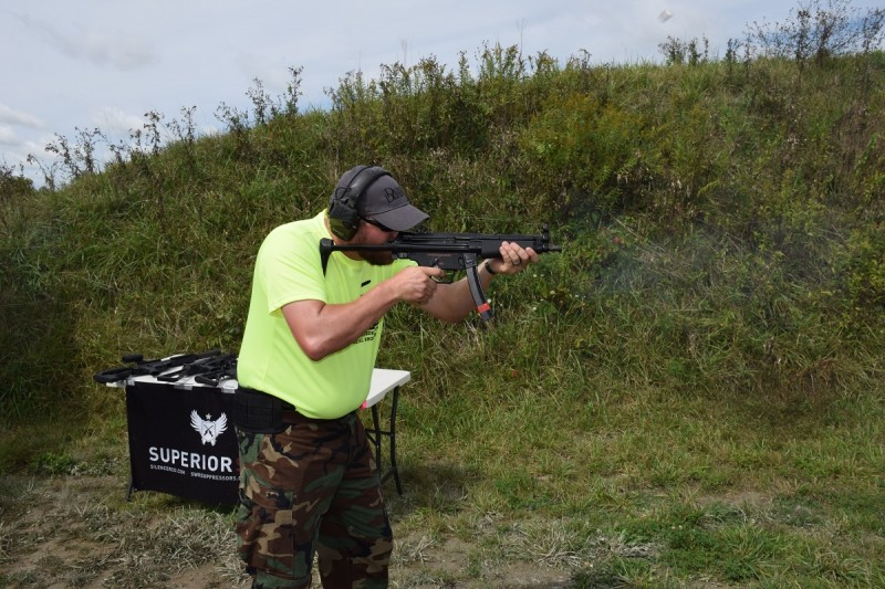 The D54P was great fun without a suppressor, too. It ran like a dream. Note the flying, blurred brass in the upper part of this photo.