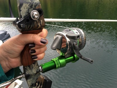 The Muzzy eXtreme Duty bowfishing reel.