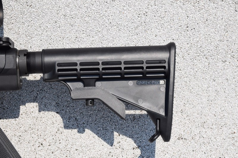The M&P10 I tested came with a collapsible M4-style stock.