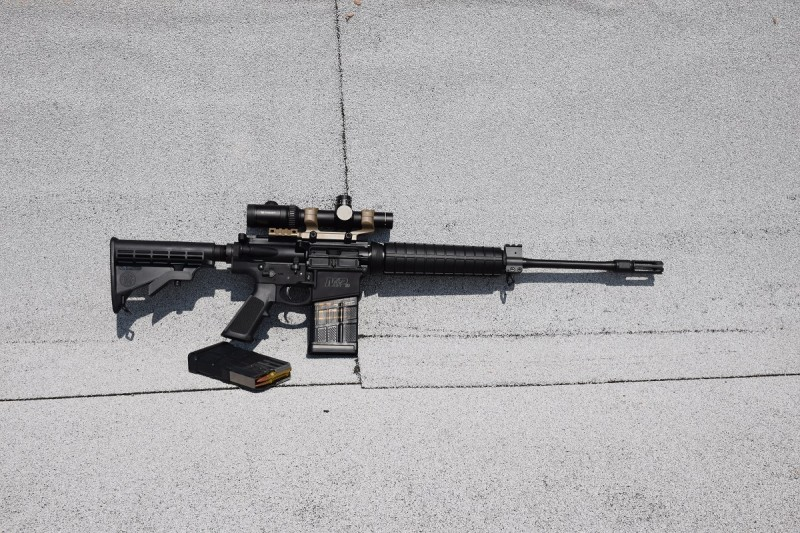 The M&P10 weighs just 7.7 pounds unloaded, making it one of the lightest semiautomatic .308 rifles available.