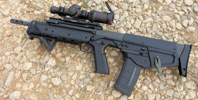 The Kel-Tec RDB. The rifle ejects spent casings downward from a port behind the magazine well. Image by Edward Osborne.