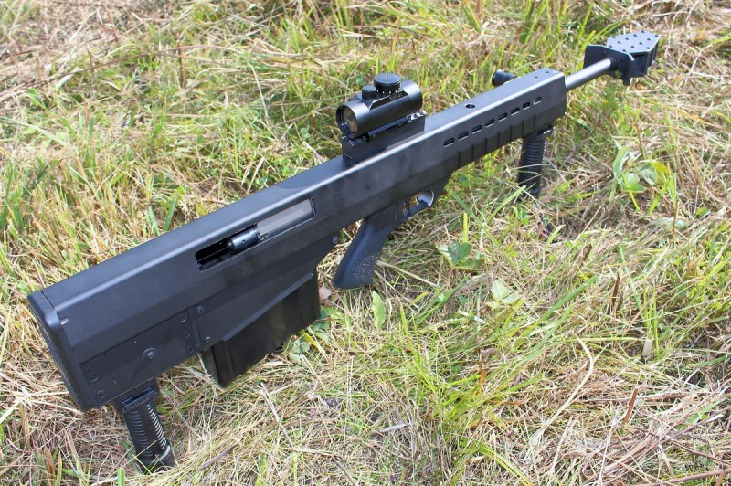 The Leader 50 A1, a new semiautomatic bullpup in .50 BMG. Image by Edward Osborne.