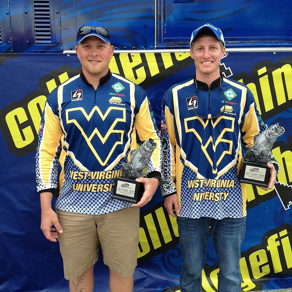 West virginia university wins flw college fishing northern for Flw college fishing