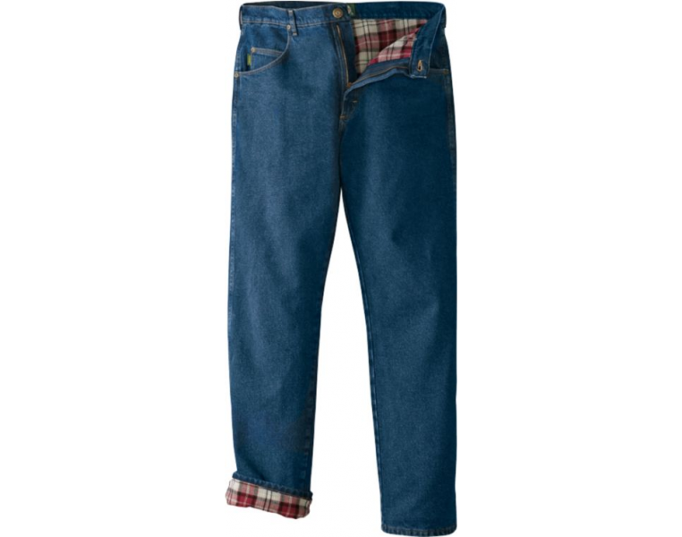 Cabela's Roughneck Flannel Lined Relaxed Jeans.
