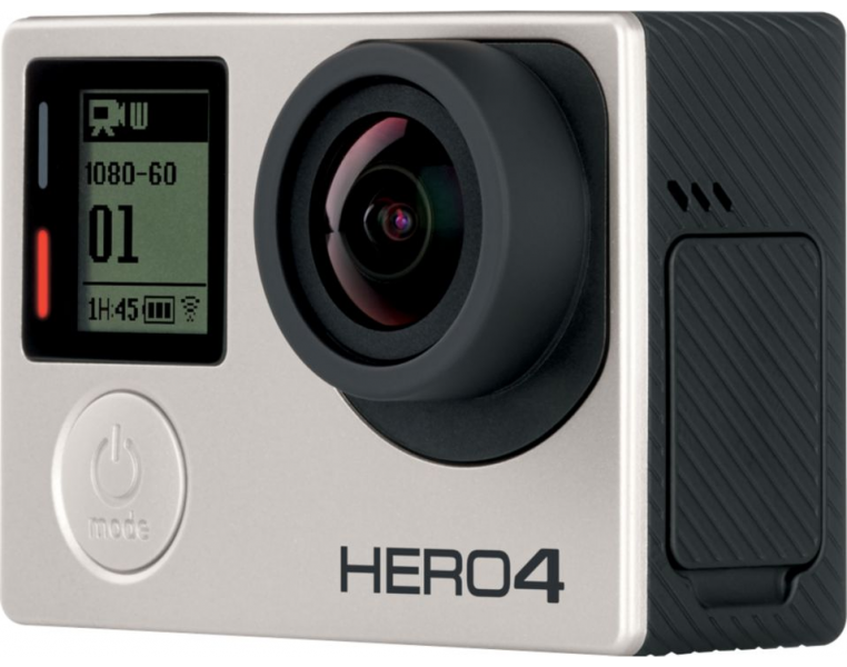 The GoPro Hero 4 Silver Action Camera.