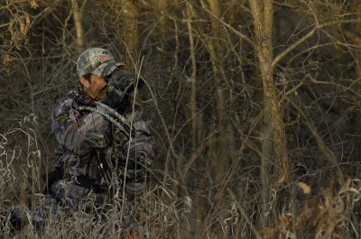 Spot and stalk tactics are perfect for windy conditions because the wind masks your scent, sound and movements.