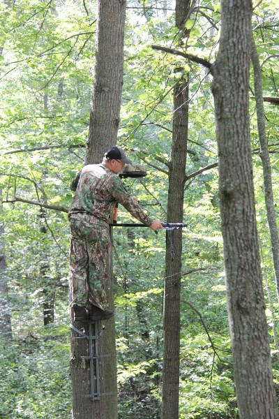 Some locations are good year after year. You can put your treestand up well before the season and leave it there until you are ready to hunt because you know when the time comes, the spot is going to offer opportunities to shoot a buck.