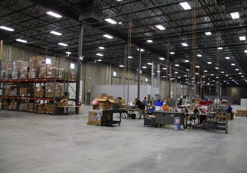 Part of the new Lancer Systems factory near Bethlehem, Pennsylvania.
