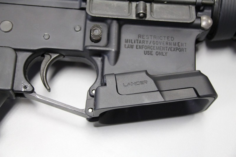 The Adaptive Magwell can be installed on just about any AR-15 in seconds.