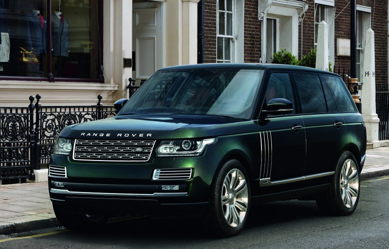 An exterior view of the Range Rover.