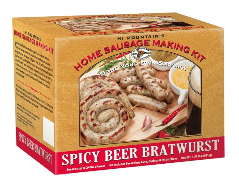 "A ""better brat"" kit from Hi Mountain Seasonings. Image courtesy Hi Mountain Seasonings."