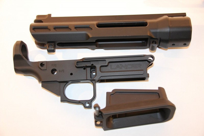 Billet components of the L30 rifle include the Tactical Magwell and lower and upper receivers.
