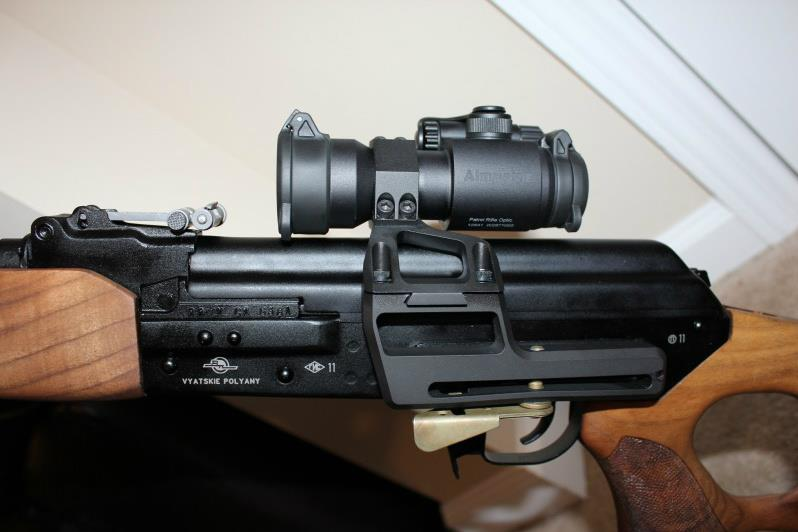 An early version of an RS Regulate AKM mount on a Vepr rifle. Image courtesy RS Regulate.