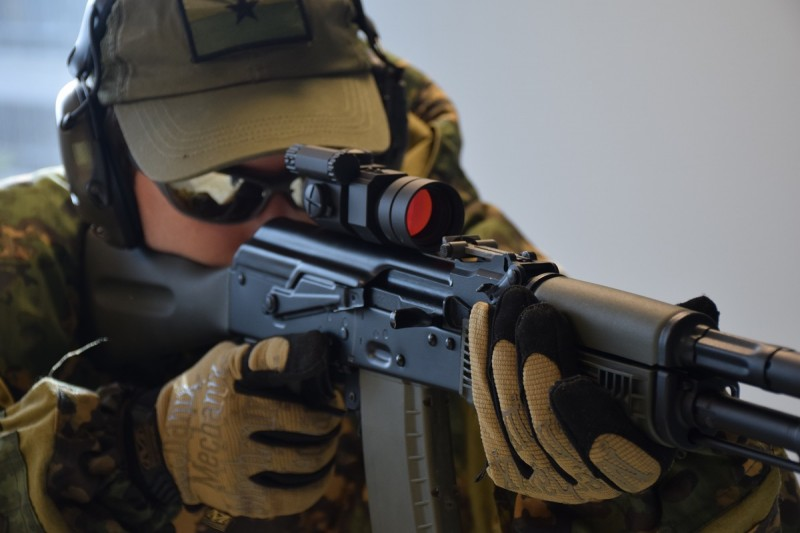 In the event of an optic failure, a shooter using the proper RS Regulate red dot upper need not worry. The firearm's iron sights can still be used without removing the mount. Image by Matt Keeler.