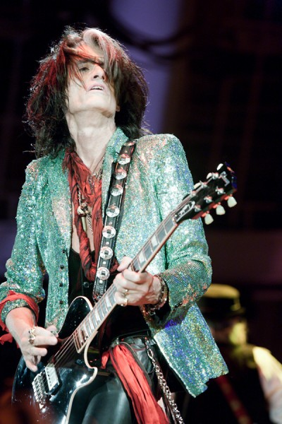 Aerosmith's Joe Perry stopped hunting when he got into rock and roll, but it didn't take long for him to rediscover the hobby. Image courtesy Harmony Gerber on the Wikimedia Commons.