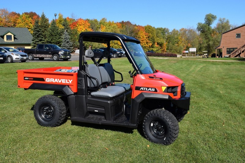 The Gravely Atlas JSV machines are a combination of Polaris Ranger DNA and Ariens power equipment quality.