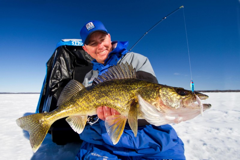 It's hard to beat a jigging spoon for early ice walleyes. The bait allows you to fish actively and target aggressive fish.