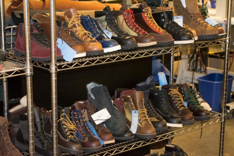 A small sampling of some of the stitch down styles made at the Danner Portland, OR facility.