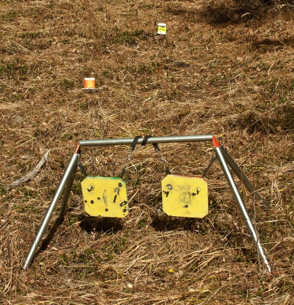 For hanging steel targets, the author prefers Gear Head Works' Ultimate Target Stand Brackets.